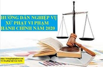 Hướng dẫn tập huấn nghiệp vụ xử phạt vi phạm hành chính