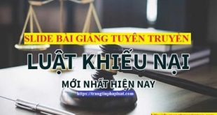 bài giảng luật khiếu nại