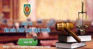 Đáp án cuộc thi trực tuyến tìm hiểu pháp luật Quảng Nam