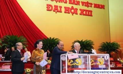 bài thu hoạch Học tập, quán triệt Nghị quyết Đại hội đại biểu toàn quốc lần thứ XIII của Đảng