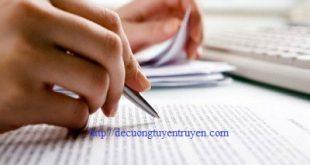 Hướng dẫn biên soạn đề cương tuyên truyền pháp luật