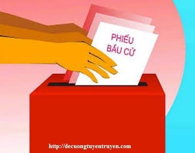 Hướng dẫn xây dựng chương trình hành động vận động bầu cử