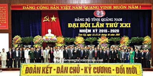 Bài thu hoạch Nghị quyết Đại hội đại biểu Đảng bộ tỉnh Quảng Nam lần thứ XXII, nhiệm kỳ 2020 – 2025